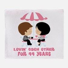 44th Anniversary Paris Couple Throw Blanket