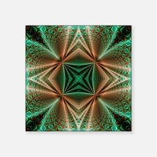 "Wormhole Pattern Square Sticker 3"" x 3"""