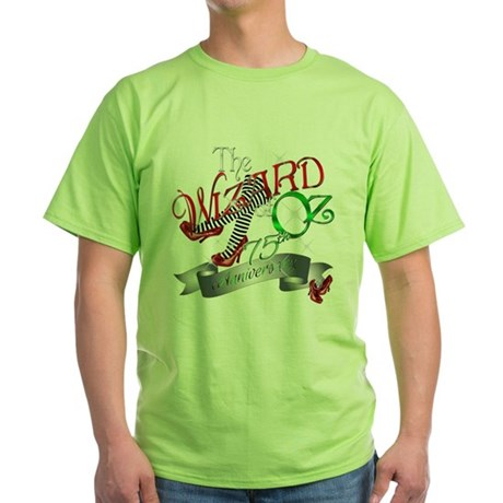 75th Anniversary Wizard of Oz Red Shoes Green T-Sh