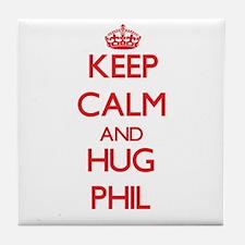 Keep Calm and HUG Phil Tile Coaster