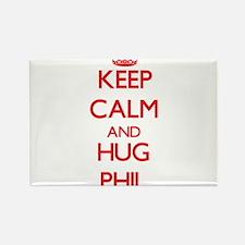 Keep Calm and HUG Phil Magnets