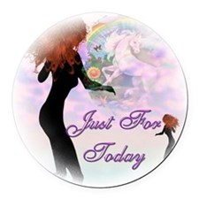 Just for Today Round Car Magnet