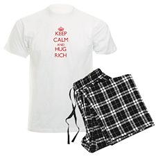 Keep Calm and HUG Rich Pajamas