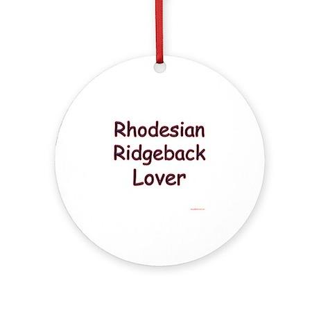 Ridgeback Lover Ornament (Round)