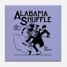 Alabama Shuffle -- Blue Tile Coaster