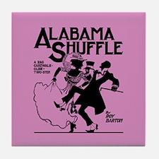 Alabama Shuffle -- Pink Tile Coaster