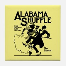 Alabama Shuffle -- Yellow Tile Coaster