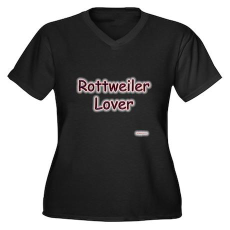 Rottweiler Lover Women's Plus Size V-Neck Dark T-S