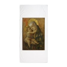 Madonna with Child Beach Towel