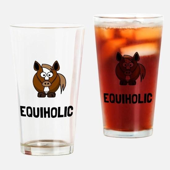 Equiholic Horse Drinking Glass
