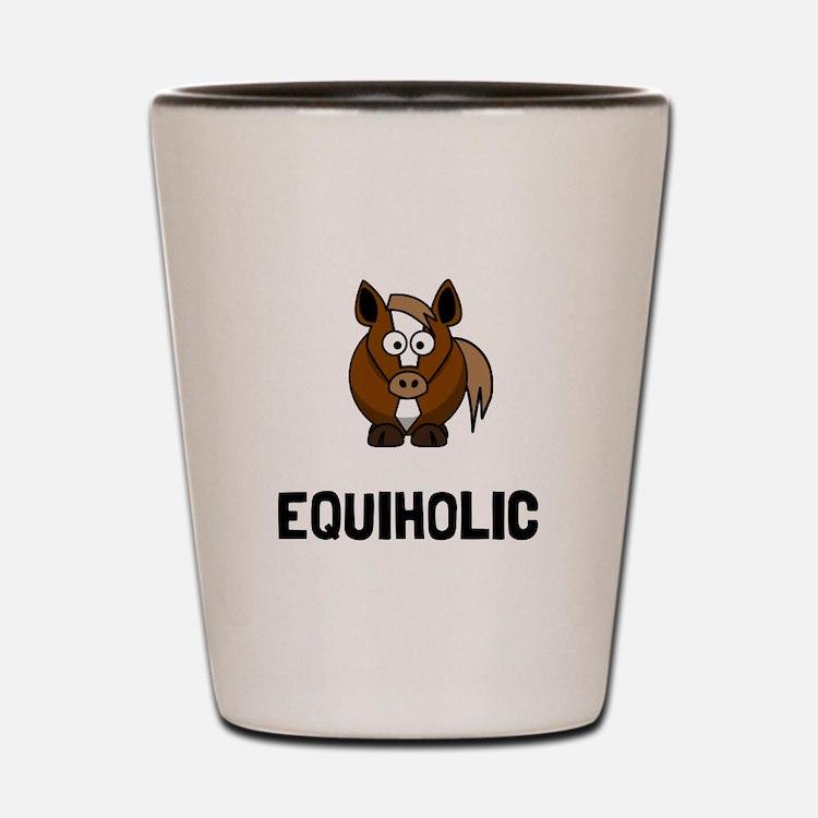Equiholic Horse Shot Glass