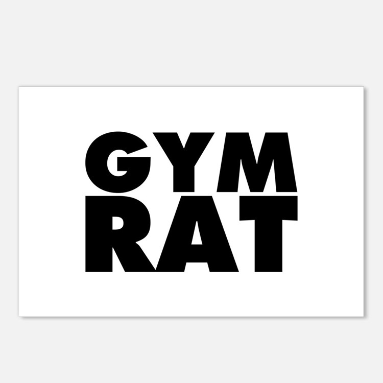 Gym Rat Postcards (Package of 8)