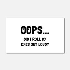 Eye Roll Car Magnet 20 x 12