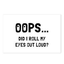 Eye Roll Postcards (Package of 8)