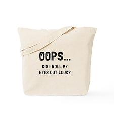 Eye Roll Tote Bag