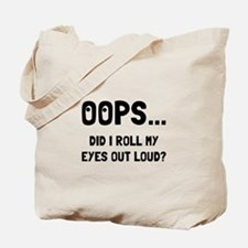 Eye Roll Tote Bag