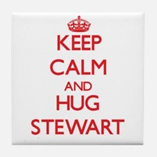 Keep Calm and HUG Stewart Tile Coaster