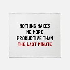 Last Minute Throw Blanket