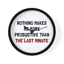 Last Minute Wall Clock