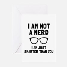 Not A Nerd Greeting Cards