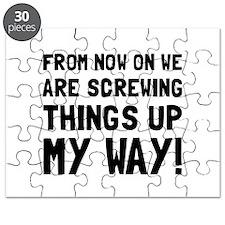 Screwing Up My Way Puzzle