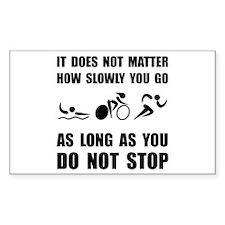 Slowly Go Triathlon Decal