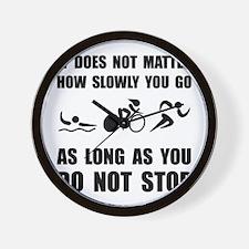 Slowly Go Triathlon Wall Clock