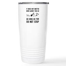 Slowly Go Triathlon Travel Mug