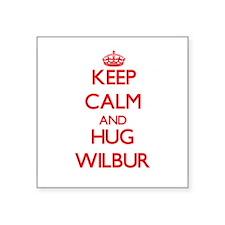 Keep Calm and HUG Wilbur Sticker