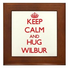 Keep Calm and HUG Wilbur Framed Tile