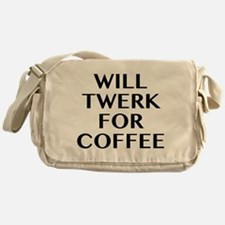 Will Twerk For Coffee Messenger Bag