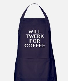 Will Twerk For Coffee Apron (dark)