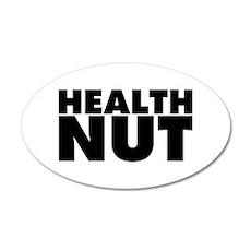 Health Nut 35x21 Oval Wall Decal