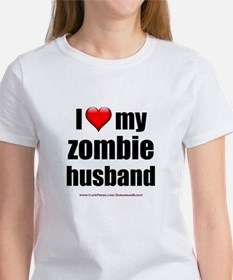 """Love My Zombie Husband"" Women's T-Shirt"