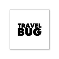 "Travel Bug Square Sticker 3"" x 3"""