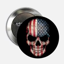 "American Flag Skull 2.25"" Button"