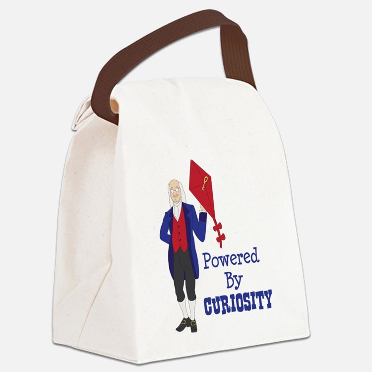 Powered By CURIOSITY Canvas Lunch Bag