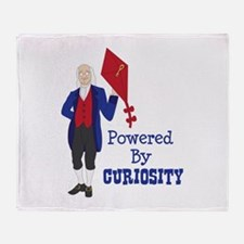 Powered By CURIOSITY Throw Blanket