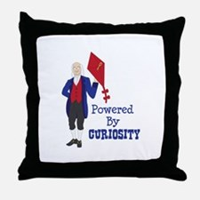 Powered By CURIOSITY Throw Pillow