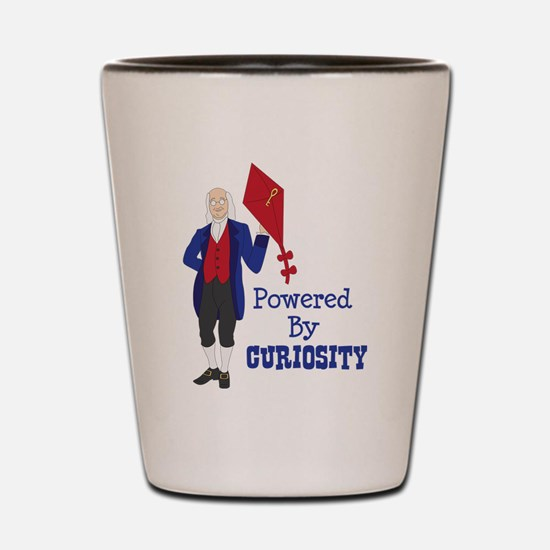 Powered By CURIOSITY Shot Glass