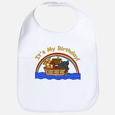 Noah's Ark Birthday Bib