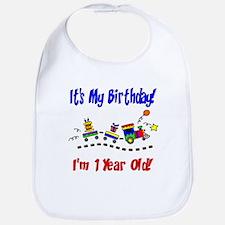 Train 1st Birthday Bib