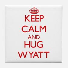 Keep calm and Hug Wyatt Tile Coaster