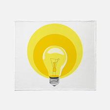 Edison Light Bulb Throw Blanket