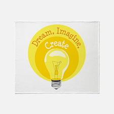 Dream, Imagine, Create Throw Blanket