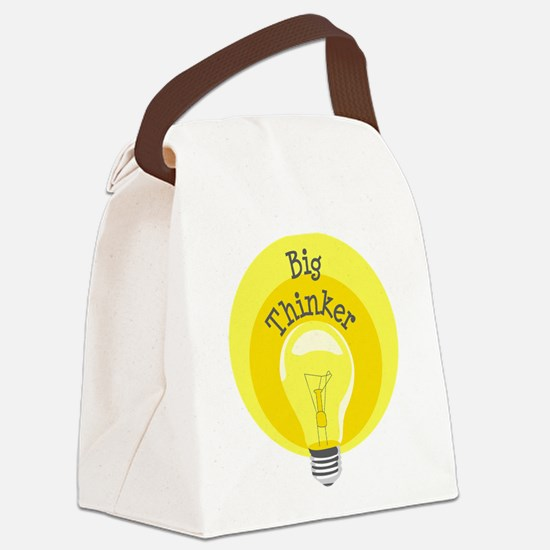 Big Thinker Canvas Lunch Bag