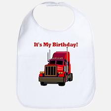 Semi Truck Birthday Bib