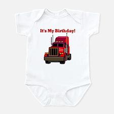 Semi Truck Birthday Infant Bodysuit