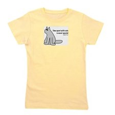 Time With Cats Girl's Tee