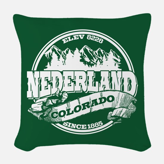 Nederland Old Circle Green Woven Throw Pillow